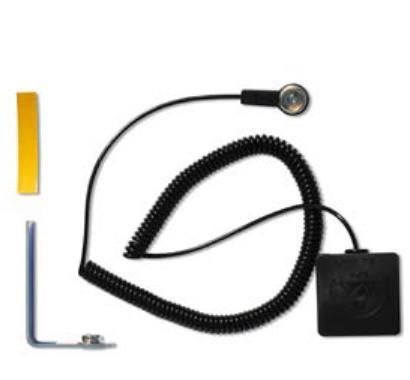 Fortelock ESD Erdungskit 4 mm für XLbestehend aus:- Kontaktplatte mit Verbindungsniete- Stecker mit