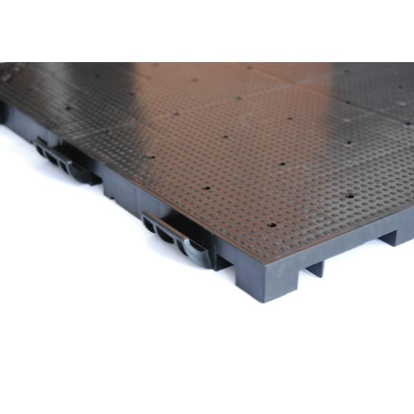 evo-floor LOCKED Bodenplatte gelocht, schwarz