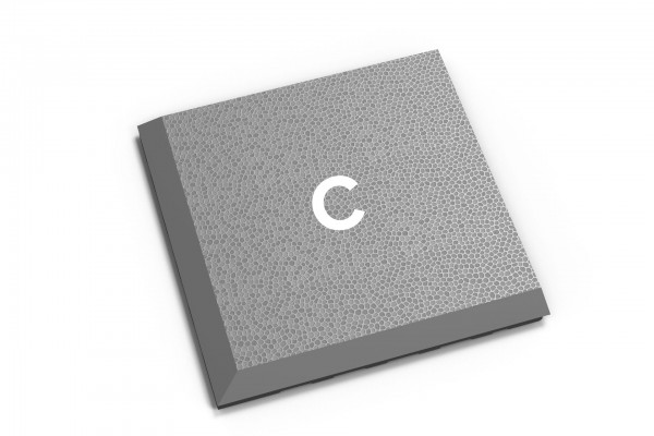 Fortelock Ecke 2038 Print C graphite - Glatt genarbt