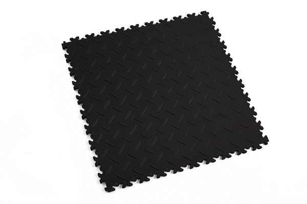 Fortelock 2050 schwarz - Diamant - Riffelbech - medium duty - 7 mm