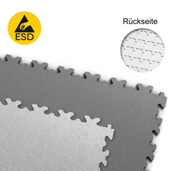 Fortelock ESD 2020 Industrieboden - grau - Glatt genarbt